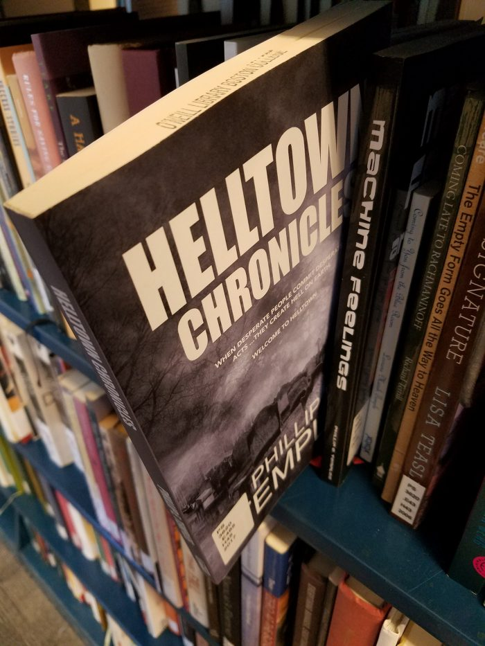 Helltown copy in Boston College O'Neill Library stacks