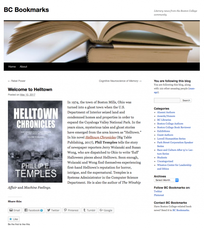 Boston College Bookmarks Review of Helltown