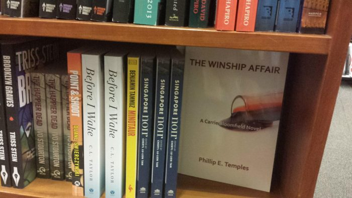 Harvard Bookstore photo featuring copies of Winship Affair