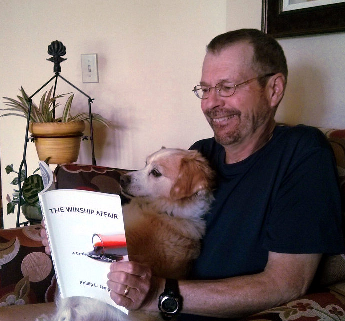 Pat and Jasper reading The Winship Affair