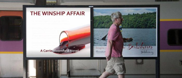 mock ad featuring the Winship Affair in the MBTA