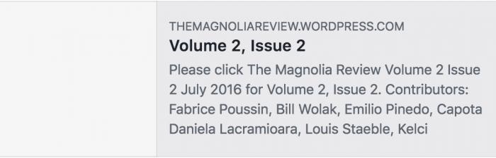 The Magnolia Review screenshot