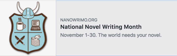 NaNoWriMo screen shot
