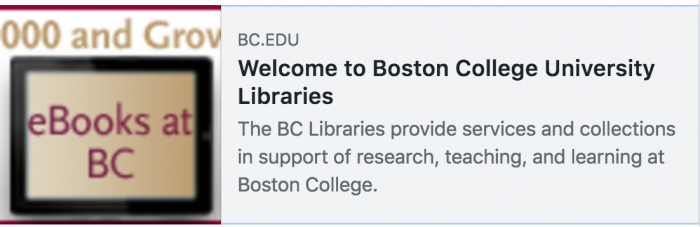 Boston College Libraries logo