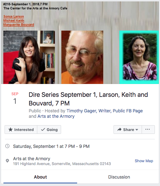 Michael C. Keith at the Dire Literary Series, Sept. 1, 2018
