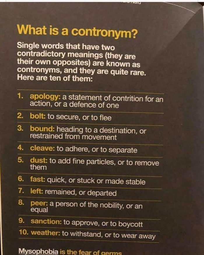 examples of contronyms